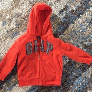 Gap - Orange fleece hoodie